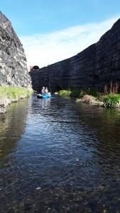 Descending 'Slag Canyon'