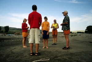 Sawyer's coming-of-age ceremony on a Yellowstone gravel bar.